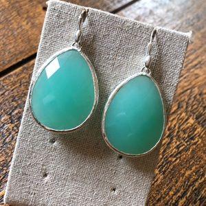 Sea foam toned gem earrings